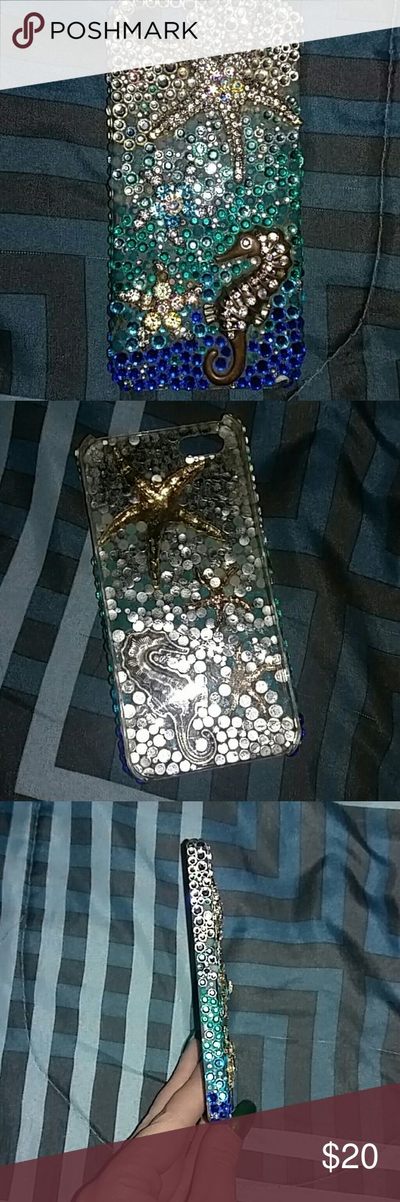 Custom Made iPhone 5 Mermaid Phone Case Custom made, missing jewels. Paid $50 selling for $10. Accessories Phone Cases