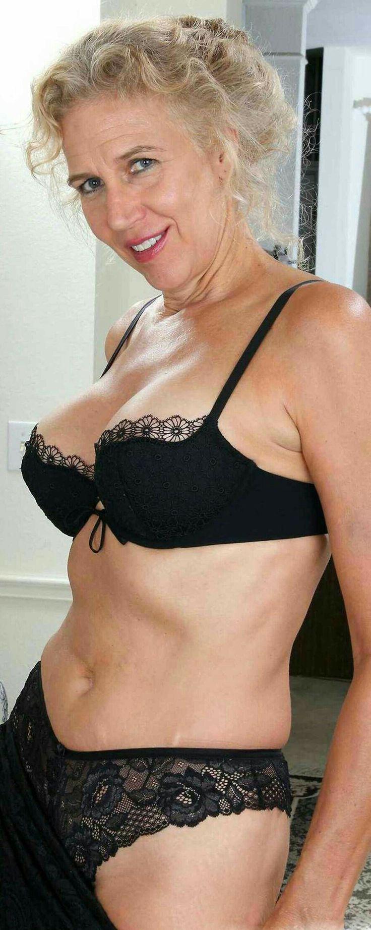 older woman nude lingerie