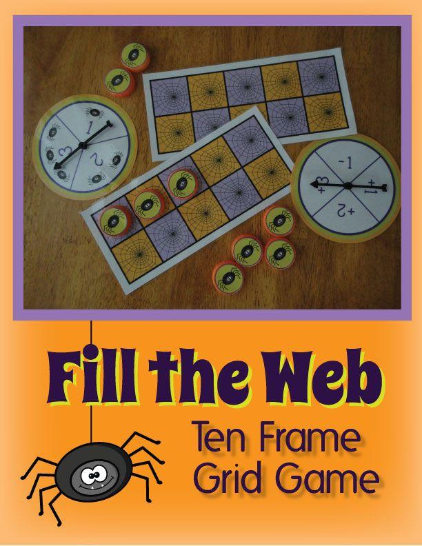 Spider Ten Frame Math Game For Preschool And Kindergarten