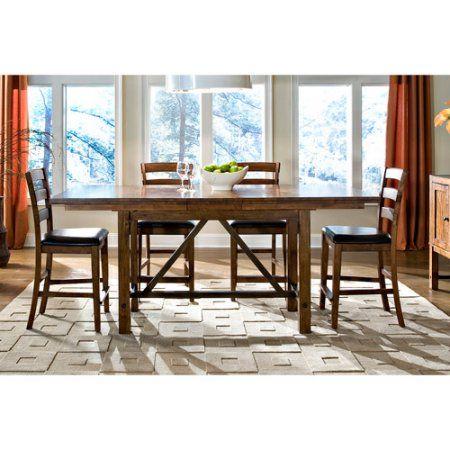 Buy Imagio Home by Intercon San Thomas Gathering-Height Trestle Dining Table, Warm Brandy at Walmart.com
