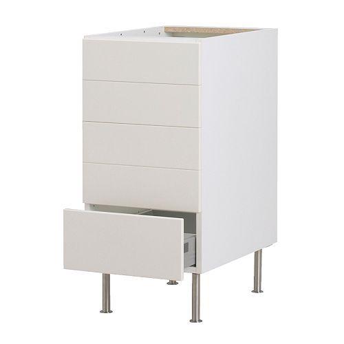 Schreibtisch Ikea Galant Buche ~ FAKTUM Bänkskåp med 5 lådor  Applåd vit, 40 cm  IKEA