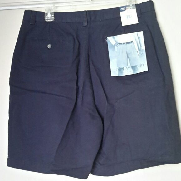 NEW MEN'S DRESS SHORTS BRAND NEW WITH TAGS MEN'S SHORTS , 100% COTTON,  WAIST 36, NAVY BLUE John Ashford Shorts Cargos