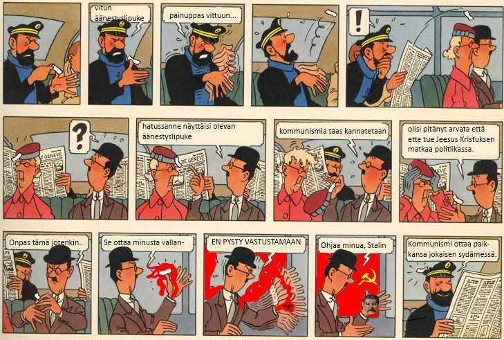 Kapteeni Haddock ja kommunismi