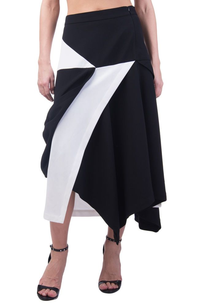 72f9cb98c4 J.W.ANDERSON Asymmetrical Skirt Size UK 12 / L Colour Block Calf Length RRP  745 #fashion #clothing #shoes #accessories #womensclothing #skirts (ebay  link)