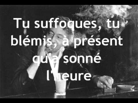 Serge Gainsbourg- Je suis venu te dire que je m'en vais - Chanson d'automne Verlaine