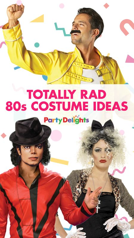 Going to an 80s fancy dress party? Find your perfect 80s costume in our round-up of the most totally rad 80s costume ideas! From Madonna and Michael Jackson to Pacman and Tetris, your journey back to the 1980s starts here!