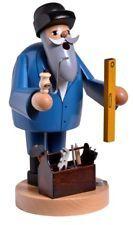 KWO Bearded Craftsman Builder with Tools German Wood Christmas Incense Smoker