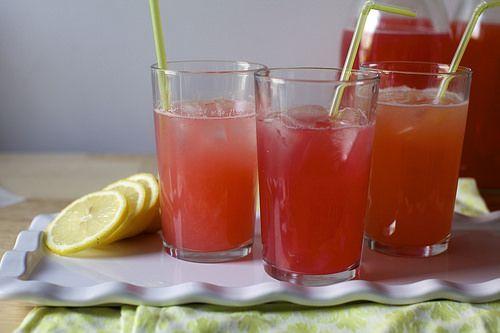 pink lemonade, three ways