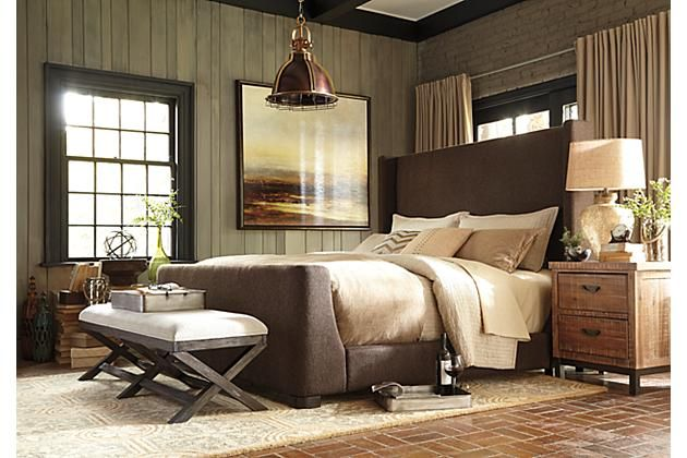 Barnella Upholstered Bed #furniture
