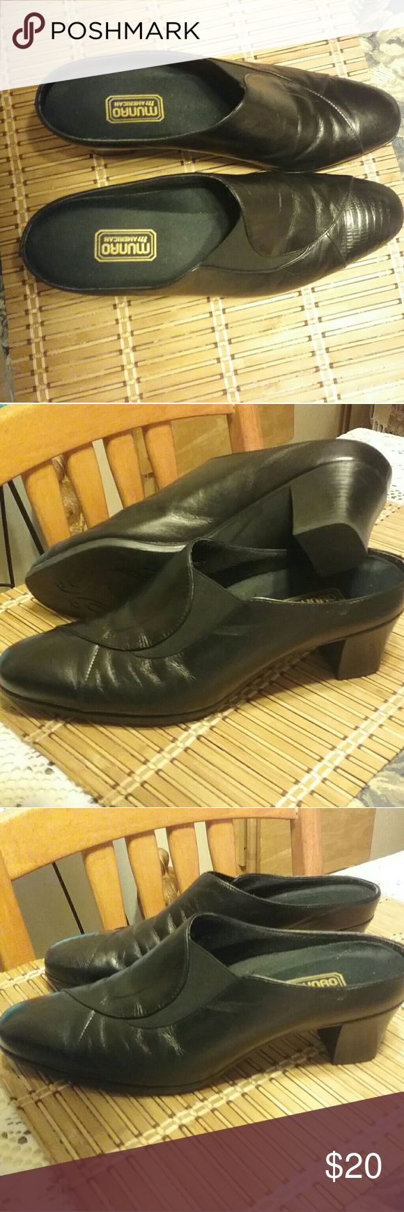 Munro American Women's Mule Style Shoes Soft leather Mule in perfect condition Women's size 9. Price firm. Munro American Shoes Mules & Clogs