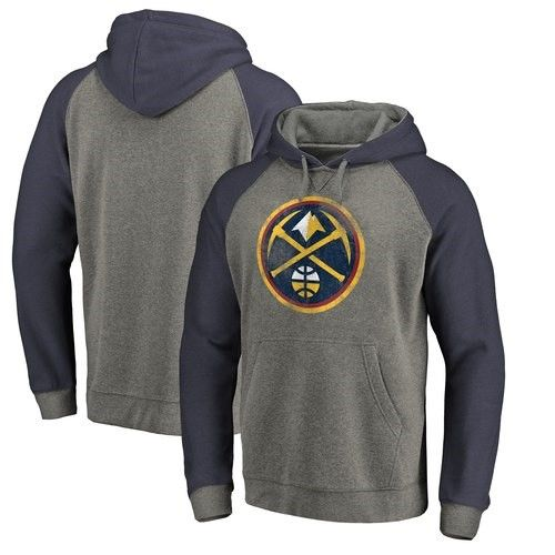 Denver Nuggets Fanatics Branded Distressed Logo Tri-Blend