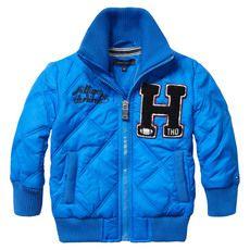 Tommy Hilfiger - Blouson zippé imperméable bleu électrique - 41654