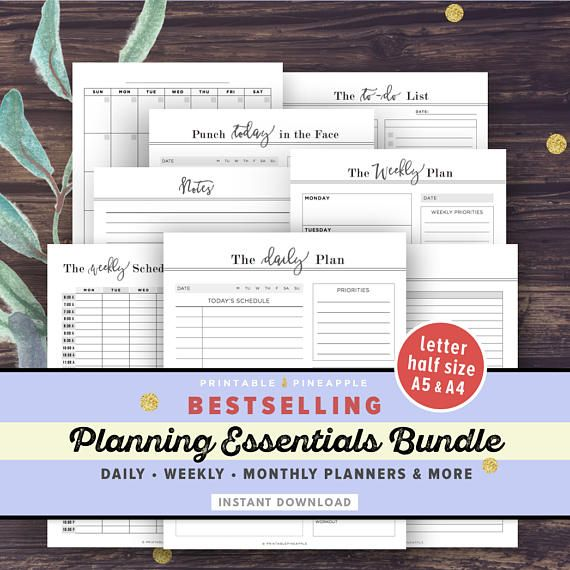 The Planning Essentials Bundle WHAT YOU WILL GET: ► Weekly Schedule ► Weekly Planner ► Daily Planner - The Daily Plan Design ► Daily Planner - Punch Today in the Face Design ► Notes Page with Date and Title ► Vertical Calendar Template - Blank (Includes Sunday-Start and Monday-Start Versions) ► Blank Tracker - Use this flexible template to track your online orders, reading, fitness regime, and more! #ad