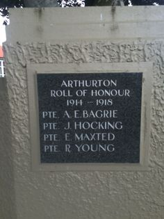 Arthurton School Roll of Honour - Historypin | Walking with an Anzac