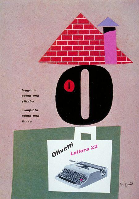 Paul Rand, Olivetti poster, 1953 #grafica #poster #storia