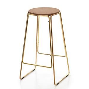 Smed  Stool Brass - Great Dane Furniture