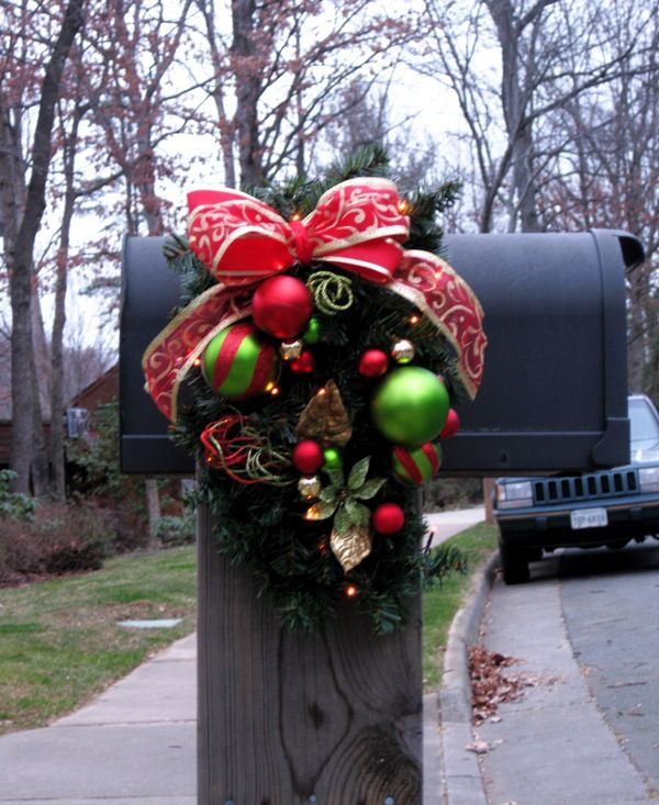 Christmas Decoration For Mailboxes : Best ideas about christmas mailbox decorations on