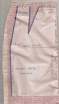Como colocar el patrón falda para cortar