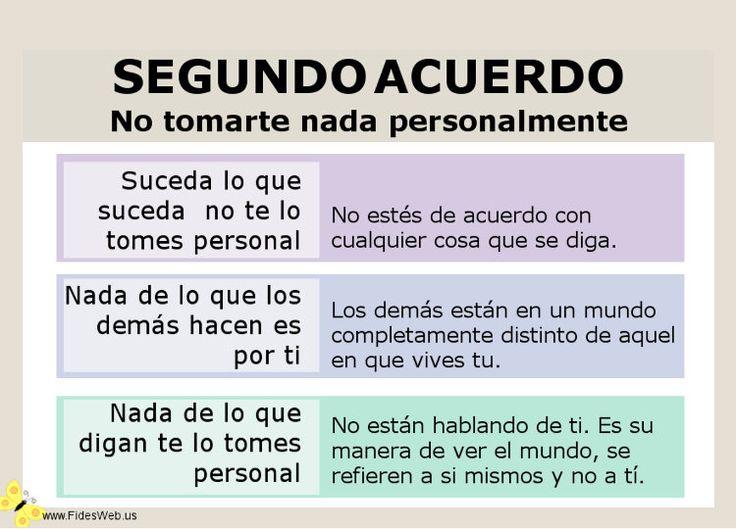 LOS CUATRO ACUERDOS, No tomes nada personal