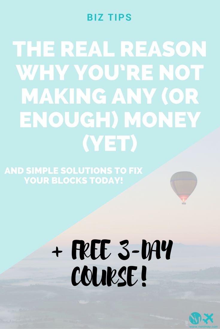 The real reason why you're not making any (or enough) money (yet). #passiveincome #income #money #finance