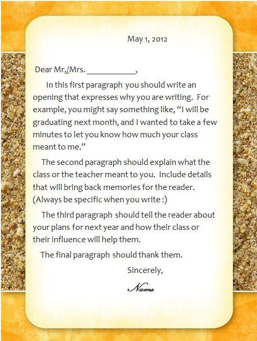 Best  Teacher Appreciation Letter Ideas On   Teacher