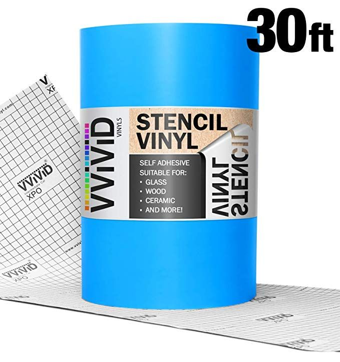 Amazon Com Vvivid Blue Low Tack Adhesive Vinyl Stencil Masking Film 12 X 30ft Roll Gateway Stencil Crafts Adhesive Vinyl Stencil Vinyl