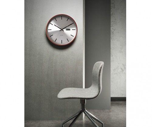 Reloj de pared madera y acero día. #relojes #deco #wood #watches #minimal #vintage Present Time #interiors