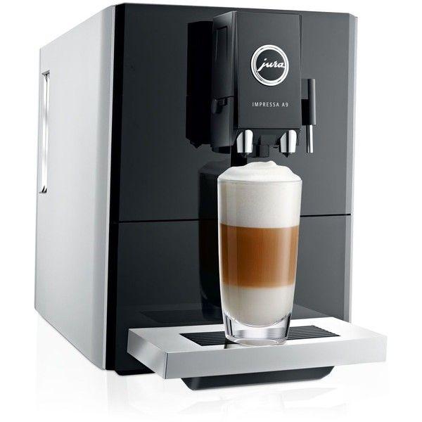 Jura Impressa A9 Espresso Machine (6.535 BRL) ❤ liked on Polyvore featuring home, kitchen & dining, small appliances, platinum, jura coffee machine, colored coffee makers, jura espresso maker, jura espresso machine and jura coffee maker