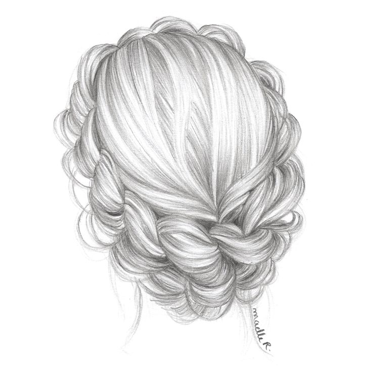 I'm starting a new hairstyle illustrations project. Well, not really a project. Just a bunch of updos to feel better.Hope you'll like them ! Here's the first.