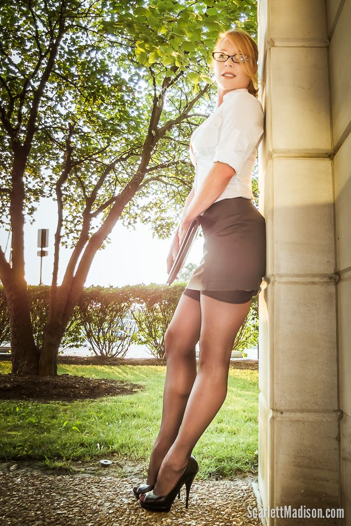 "Office Eye Candy by ScarlettMadison.com -  No other model comes close to nailing the hot ""office girl/businesswoman"" in a manner that is as highly erotic as this portrait yet still maintain classy style."