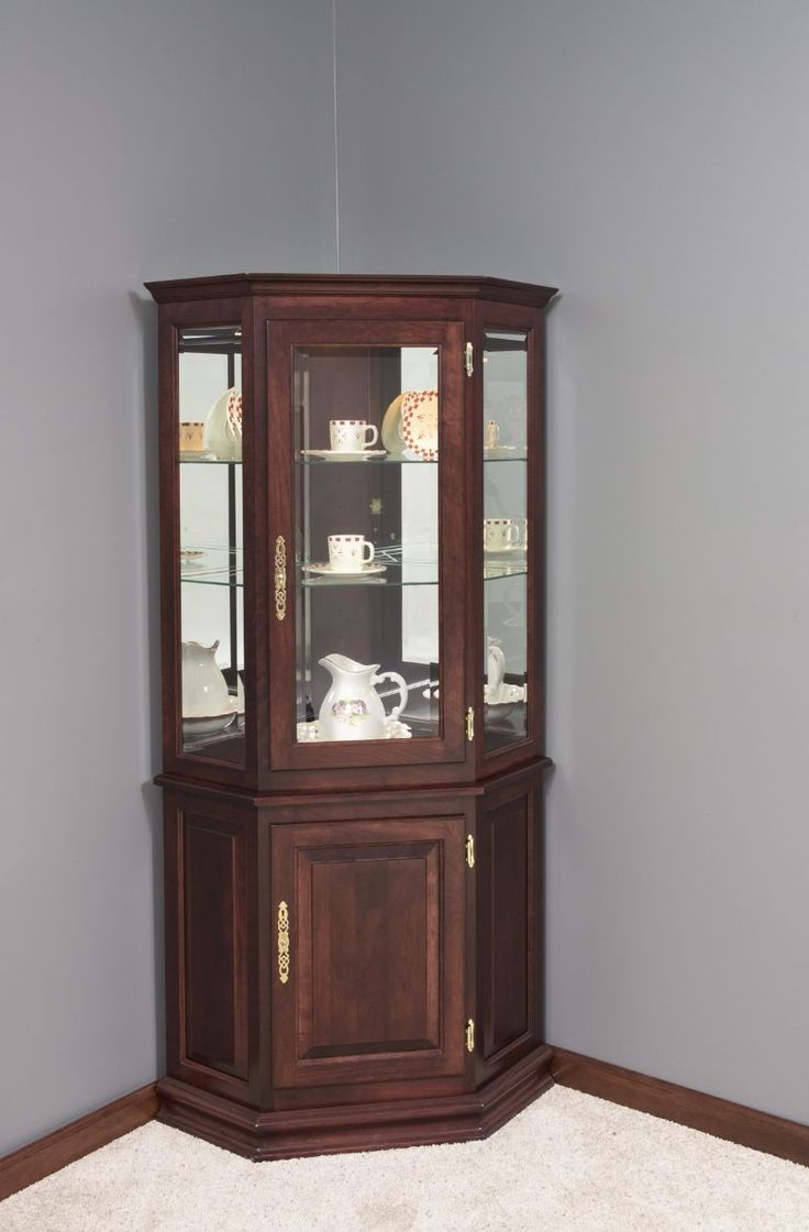 26 Best Curio Cabinets Images On Pinterest Antique Wardrobe