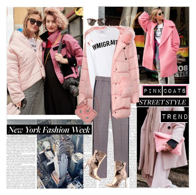 NYFW Street Style Trend Pink Coats by stylepersonal on Polyvore featuring polyvore, fashion, style, Ashish, Mulberry, Coach, Gentle Monster, clothing and NYFW