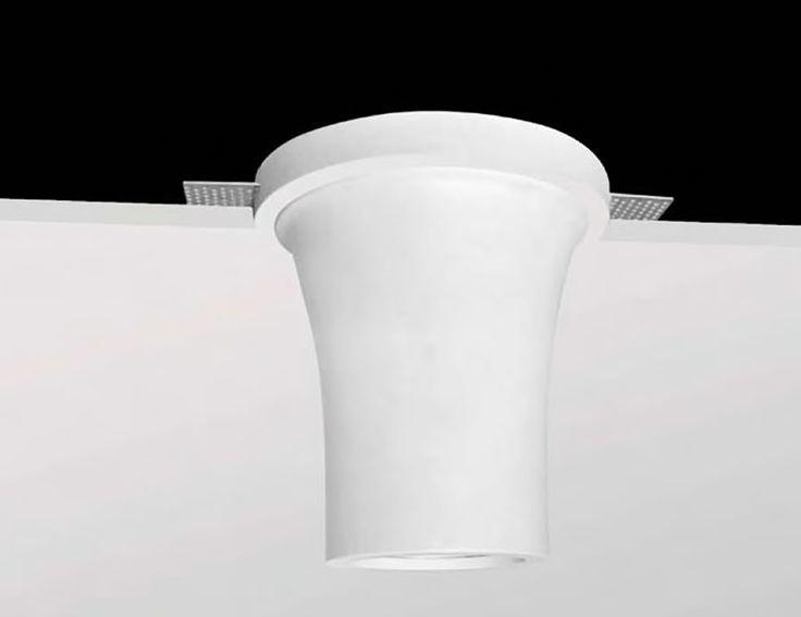 Lámpara cónica de yeso para techos #decoracion #iluminacion #interiorismo #lamparas