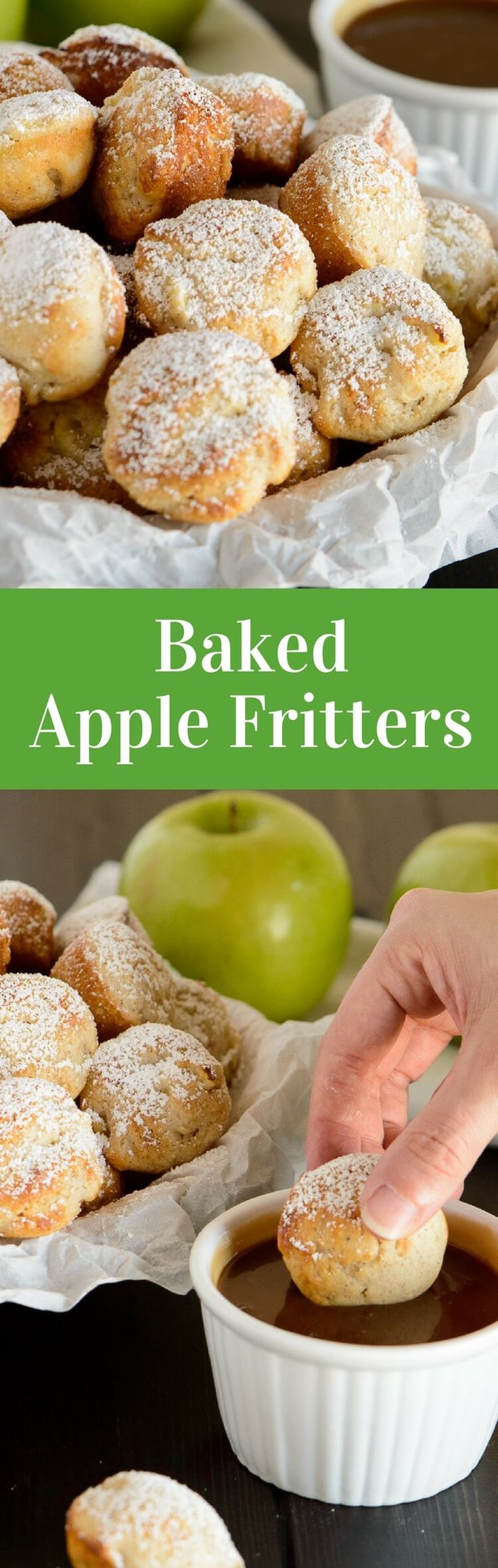 These baked apple fritters are so delicious. Whip up this easy recipe and enjoy a fair classic that is baked and not fried! via @introvertbaker