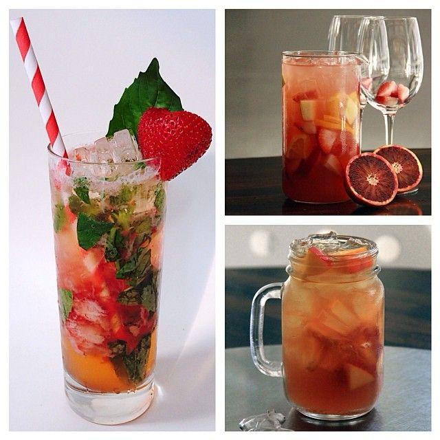 Strawberry Basil Soda, Blood Orange Sangria or Fresh Peach Arnold Palmer