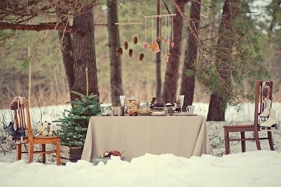 Winter Wonderland  Picnic: Winter Parties, Vintage Winter, Christmas Tables, Dinner Parties, Winter Wonderland, Winter Wedding, Christmas Dinner, Outdoor Christmas
