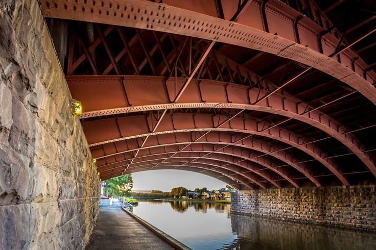 Underneath Princess Bridge, Melbourne