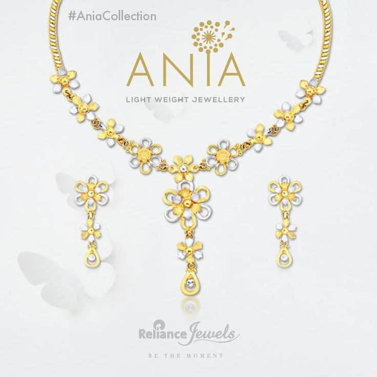 ‪#‎AniaCollection‬ Light Weight Jewellery. Subtle play of gold and diamonds come together to brighten every moment of the day. Reliance Jewels Be The Moment. www.reliancejewels.com  #reliance #reliancejewels #indianjewellery #beautiful #bridal #neverendingtrend #bethemoment #beyou