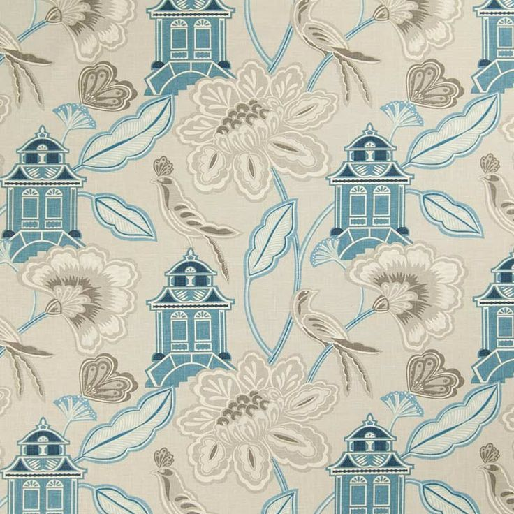 Warwick Fabrics : LANTERN GARDEN (green)