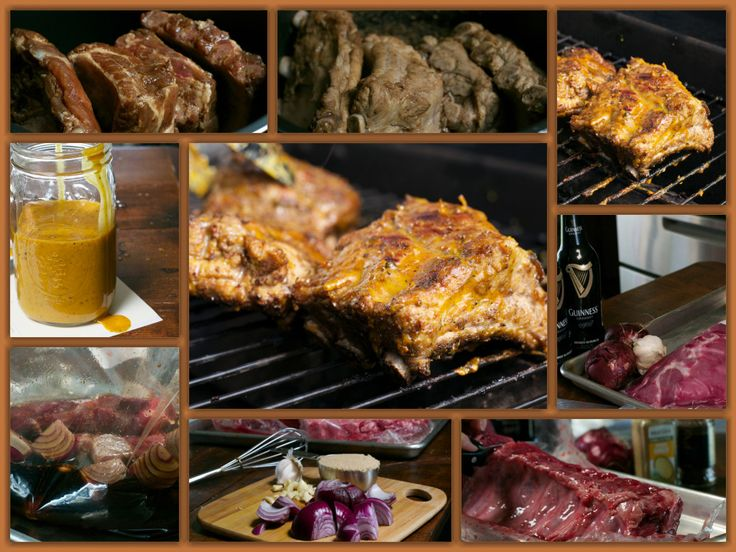 Guinness Ribs with Carolina Sauce Collage