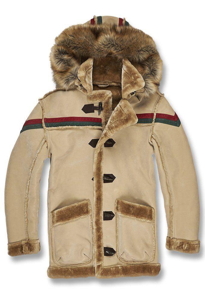 ecf2cd1f9ab Jordan Craig Striped Sherling Jacket (Tan) | Products | Sherling ...