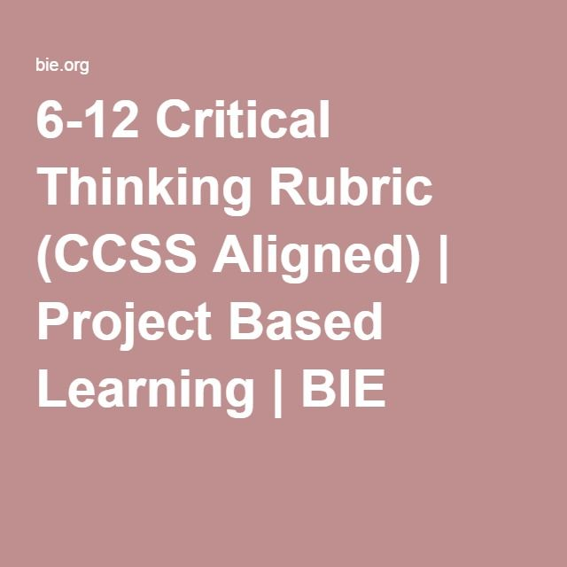 27 best Teaching via PBL images on Pinterest Project based - rubrics for project based learning