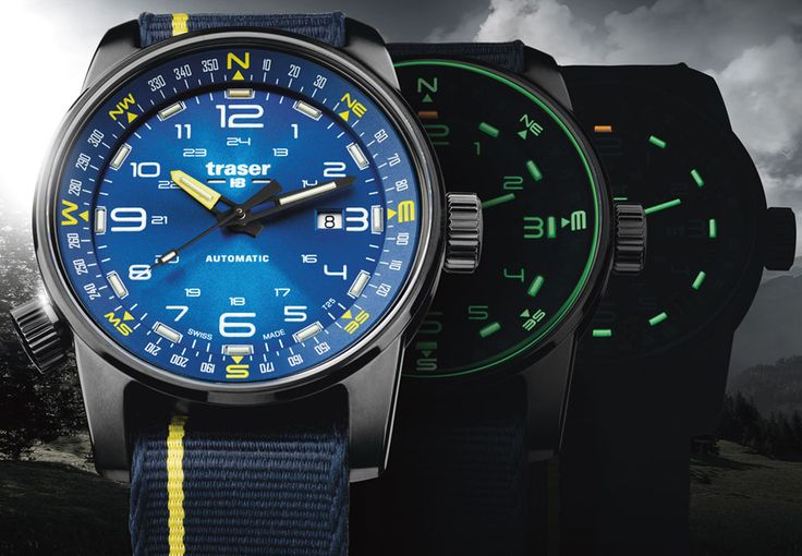 The new Traser P68 Pathfinder Automatic is a 46mm field watch with an integrated compass ring and, of course, tritium gas vials for illumination.