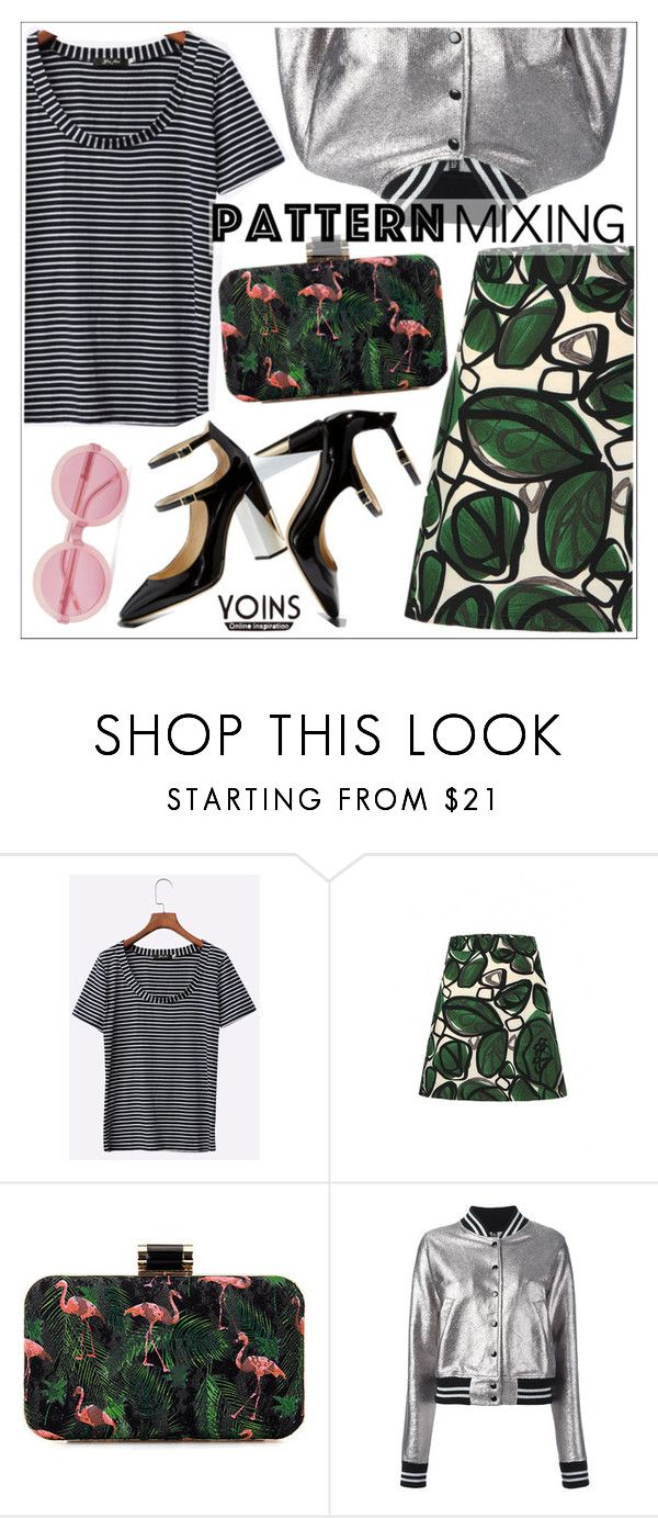 """""""Stay Bold: Pattern Mixing"""" by teoecar ❤ liked on Polyvore featuring R13, Wildfox, yoins, yoinscollection and loveyoins"""