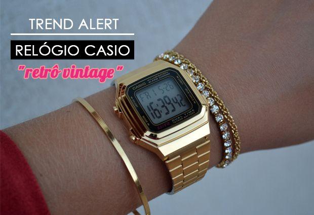 Ponto Cor de Rosa: Trend Alert: Relógio Casio Vintage! Ou será Retrô?!