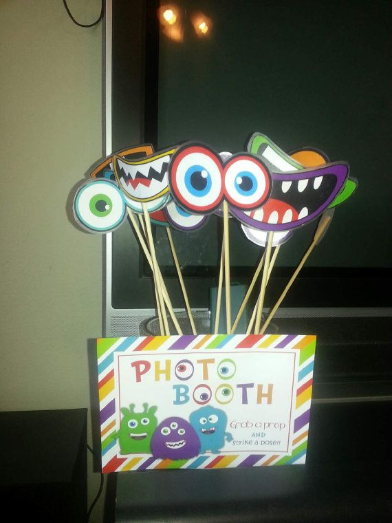 Little Monster Birthday Party Photo props by creativelyexpressive
