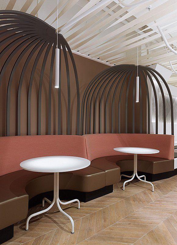 Ippolito Fleitz has designed the Not Guilty Restaurant in Zurich, Switzerland.