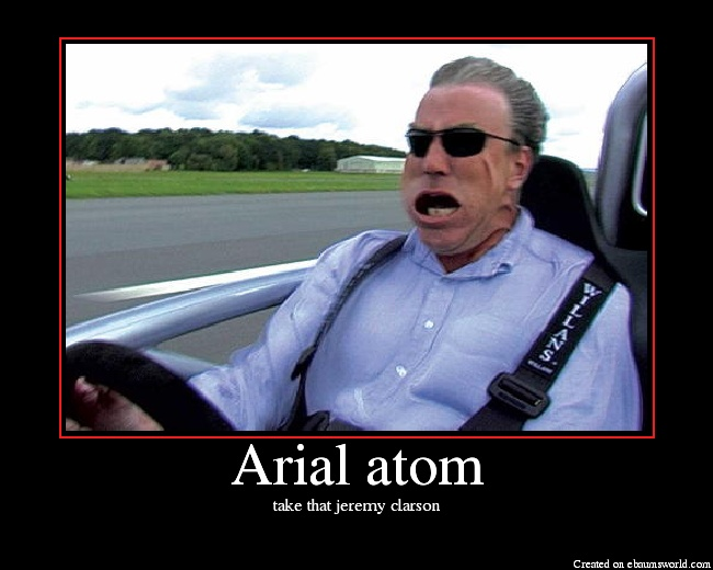 Jeremy clarkson top gear taking V8 Ariel atom for a spin
