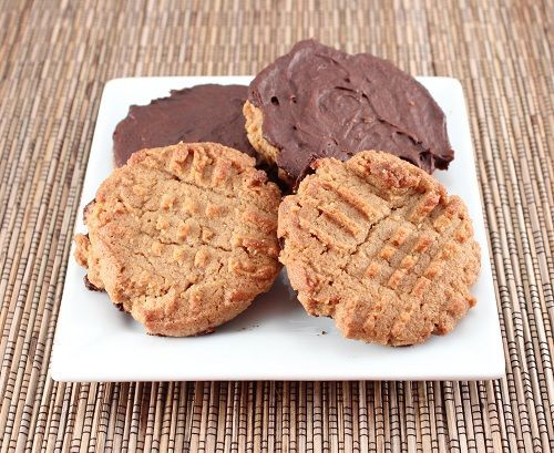Chocolate Dipped Almond Butter Cookies