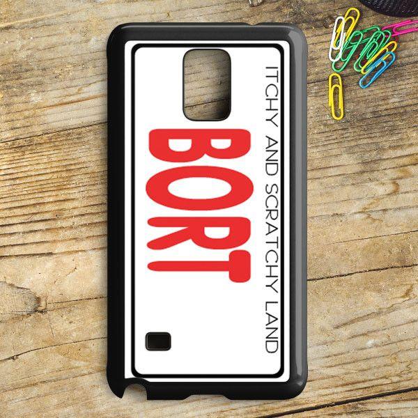 Bort License Plate Cover Samsung Galaxy Note 5 Case   armeyla.com